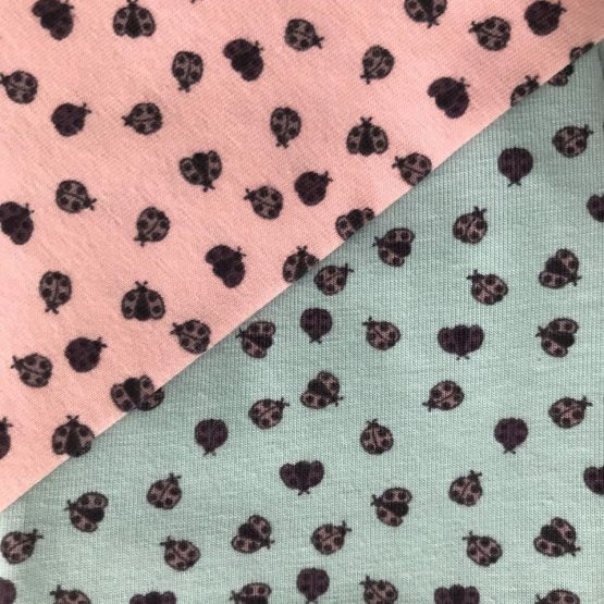 lieveheersbeestje mint roze closeup