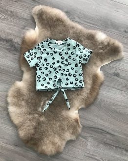 panter shirt met knoop