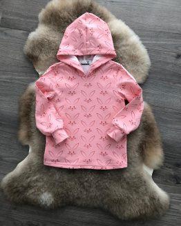Konijnen hoodie met capuchon roze