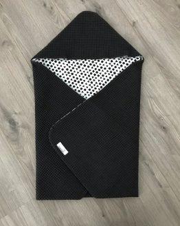 Omslagdoek zwart wit met driehoekjes