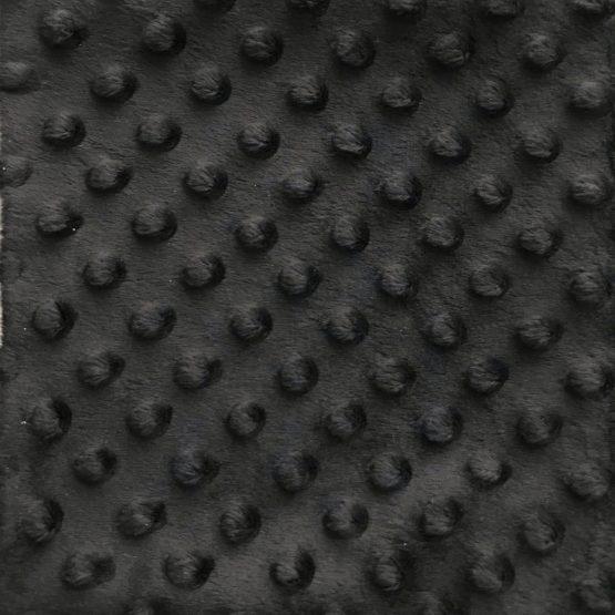 Achterkant speendoekje zwarte minkyfleece