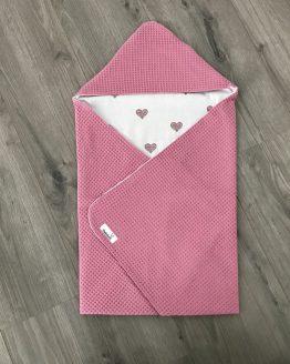 Omslagdoek Roze met hartjes