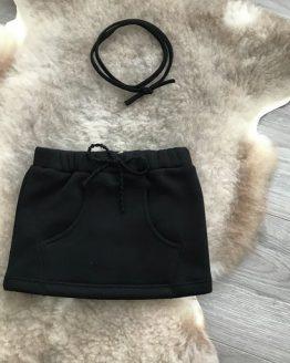 zwarte rok met zak