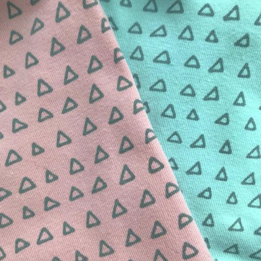 Closeup boxpakje met driehoekjes
