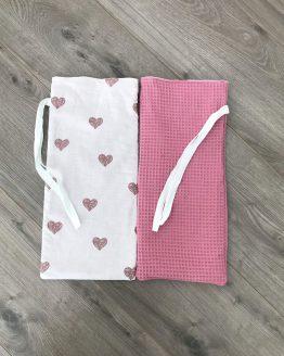 Kruikzakken roze hartjes