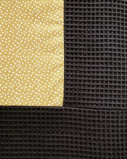 boxkleed-zwart-met-okergeel
