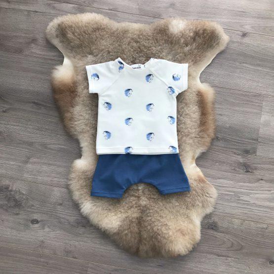 Set-egeltjes-shirt-broek-zomer
