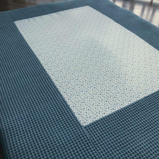 boxkleed-jeansblauw-kruisjes