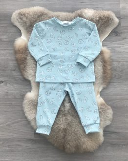 pyjama-blauw-maan