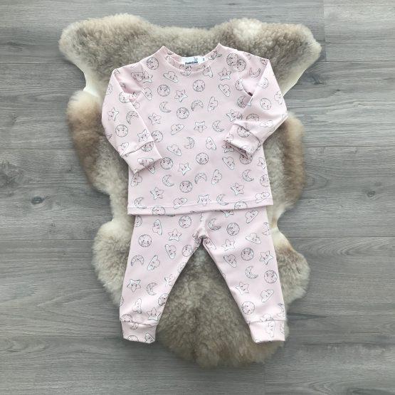 pyjama-maan-ster-roze