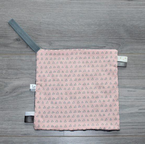 Speendoekje-roze-driehdoekjes